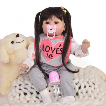 22inch Lifelike reborn dolls babies silicone reborn dolls baby real alive Toys For Girls bebe gift reborn bonecas play house toy