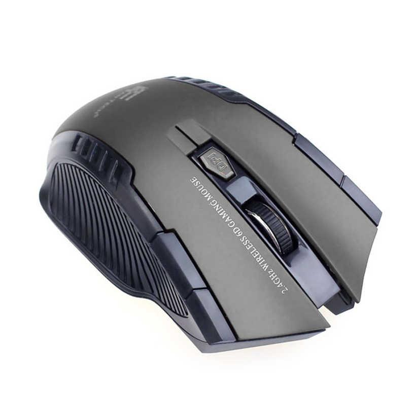 فأر ألعاب بصري لاسلكي مصغر محمول 2.4 جيجاهرتز من VOBERRY مع 6 أزرار يتكيف مع جميع أنواع أجهزة الكمبيوتر JQ0318