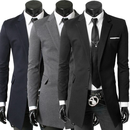New 2013 Fashion Two Buttons Long Slim Casual Suits ...