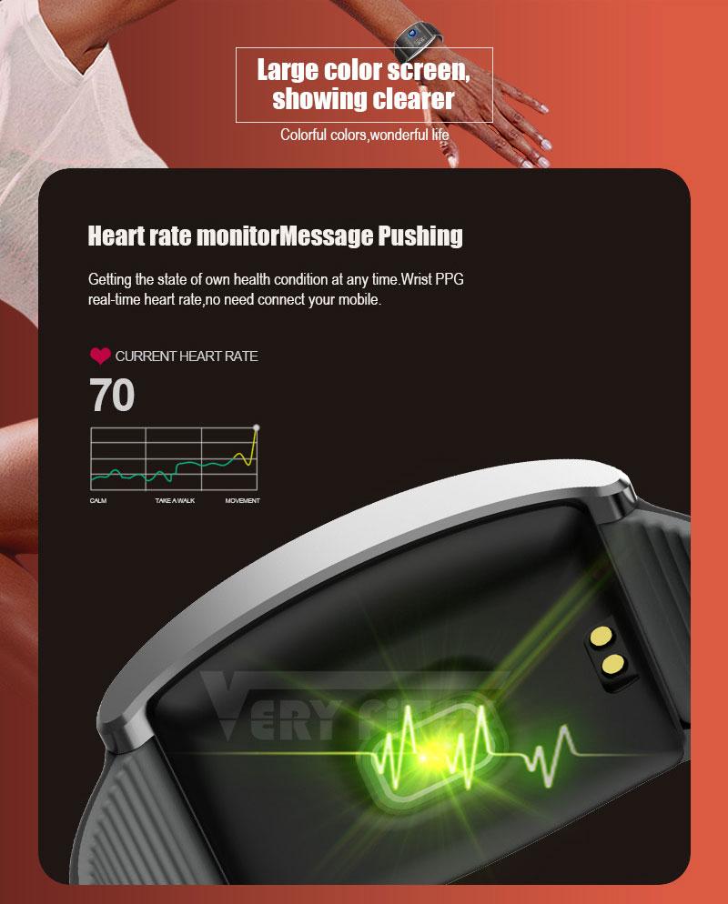 VERYFiTEK QS05 Smart Bracelet Watch Blood Pressure Oxygen Smart Band Heart Rate Monitor Wristband Pedometer Fitness Bracelets  (8)
