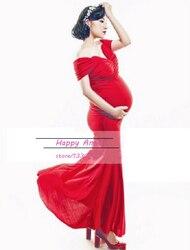 e3e1138f3 Nueva embarazada Maternidad mujer fotografía props sexy vestido embarazo  fotografía rojo puro romántico ropa tamaño libre