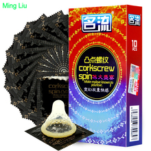 MingLiu 10pcs condom Latex Dots Pleasure Natural Rubber penis sleeve Erotic toys for Men extension pene condoms Sex products gay