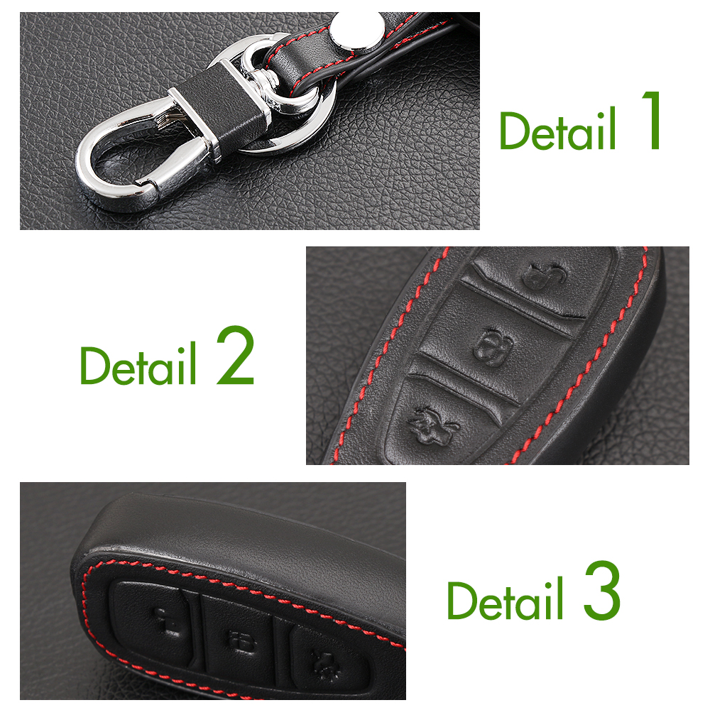 Aliexpress com buy new design leather cover wallet key remote case for ford focus 3 4 mk3 st rs kuga escape ecosport new fiesta 3 buttons smart key from
