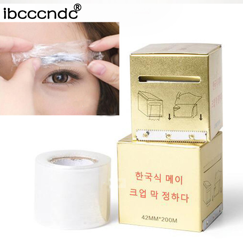 1 Box Microblading Plastic Wrap 42mm*200m Tattoo Mask Accessories Permanent Makeup Preservative Film Supply Eyebrow Cover