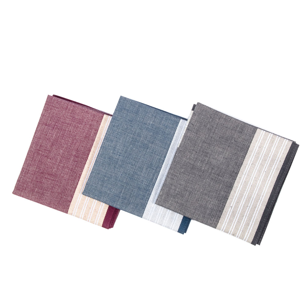 1PC Elegant Handkerchief Retro Blue Red Male Women Men  Accessories Comfortable Sweat Packet Fashion Handkerchiefs