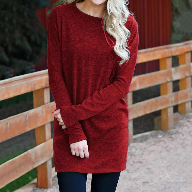 63d245c531a1e Winter Autumn Long Sleeve Sweater Dress Women Jumper Knitted Sweaters  Pullover Famale Dress Loose Tunic Mini