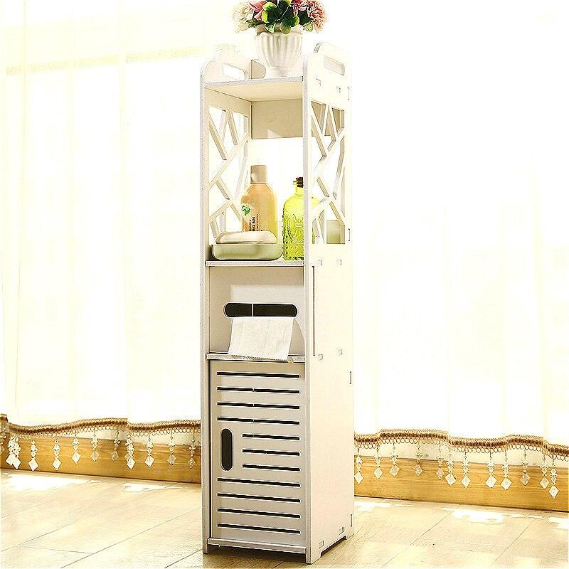 YN22 PVC waterproof Bathroom Vanity Bathroom Side Storage Cabinet Towel Box Toilet Storage Shelf Bathroom Furniture 80cm
