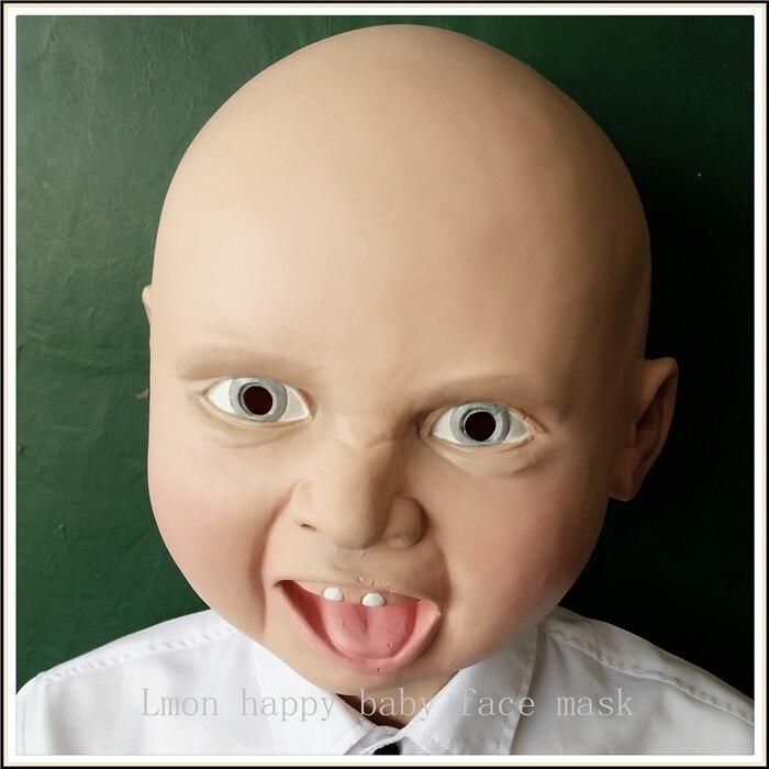 Novi smiješno lateks zgražati Sretan plakati beba kostim maska - Za blagdane i zabave - Foto 4