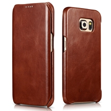 For Samsung Galaxy S6 Edge case,[Vintage Series] [Genuine Leather] Flip Case Folio Cover,  [Edge Protector] for Galaxy S6 Edge
