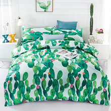 Tropical plants Bedding set With Pillowcases Duvet Cover Queen King Size Bedclothes 3pcs Bed linen(China)