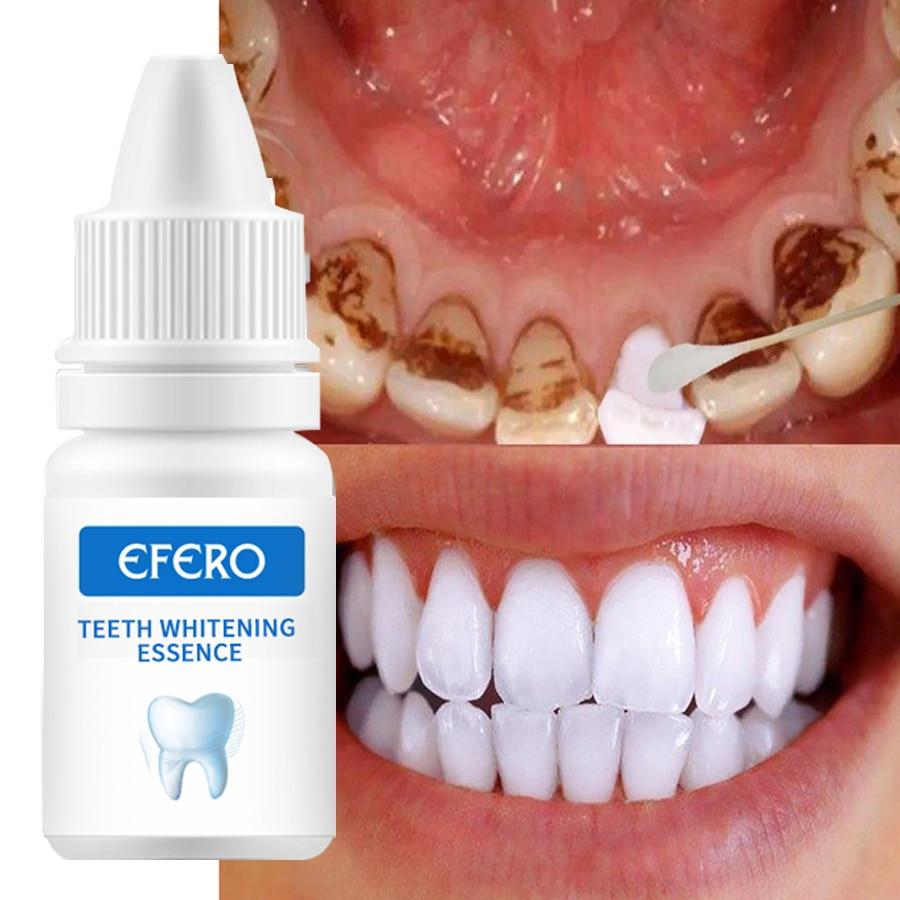 EFERO sérum de blanchiment des dents enlève les taches de Plaque éclaircissante blanchiment des dents hygiène buccale propre sérum outil de blanchiment Gel de blanchiment