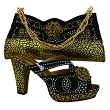 2015 New Shoes And Bags Set !African Fashion Shoes and Matching Bags set,water green lady Italy Shoes and Bags Szie38-42 HVB1-1