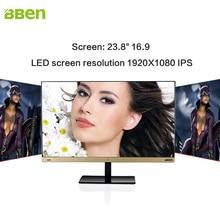 Bben 23.8inch All-in-One PC computer full HD ips 1920×1080 Intel i5 8GB RAM,128GB SSD +500GB HDD ROM, Windows 10 WiFi/HDMI/BT4.0