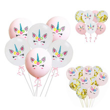 10pcs Unicorn Latex Balloons Birthday Party Ballons Kid Animal Theme Baloon Baby Shower Decoration Kids Toys Globos