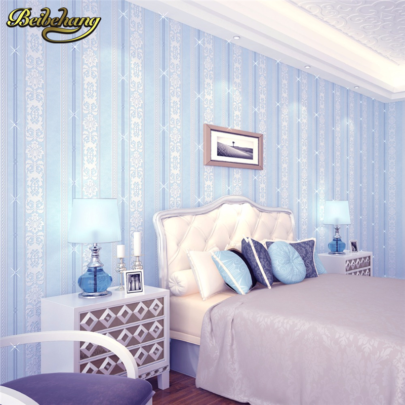 beibehang Vertical striped embroidery inlaid Wall Paper roll Home Decor Background Wallcovering 3D velvet Wallpaper Living Room modern damask 3d velvet wallpaper flocked grey wallcovering for bedding tv background wall roll 10m home decor soundproofing
