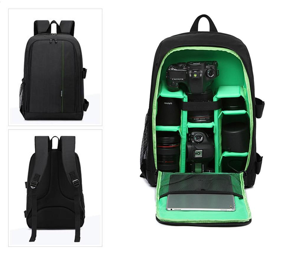 Upgrade Waterproof Camera Backpack Digital Camera Bag Case Multi functional SLR Camera Bag Video Bag For