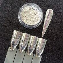 1 Jar DIAMOND AURORA GLITTER Mermaid Nail Glitter Powder Unicorn Sequins 3D Nail Art Pigment Decoration SUPER SHINING EFFECT 1g