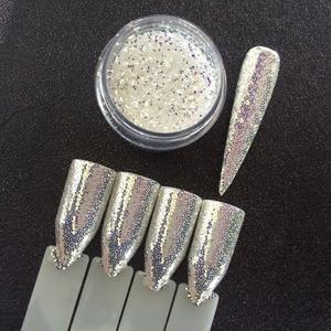 Image 1 - 1 frasco de diamantes AURORA purpurina brillo de uñas de sirena polvo de unicornio lentejuelas 3D Nail Art pigmento decoración SUPER brillante Efecto 1g