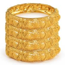 Anniyo 4 יח\חבילה דובאי חתונה צמידי האתיופית תכשיטי זהב צבע אפריקה צמידי נשים ערבי יום הולדת תכשיטי מתנות #199606