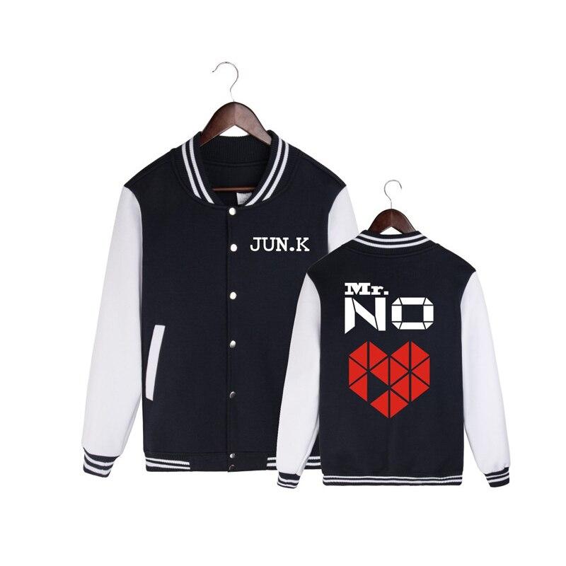 HPEIYPEI KPOP Coréenne Mode 2 PM JUIN. K SOLO 2016 Album Monsieur. PAS M. NO Concert Coton K-POP Baseball Veste Manteau PT197