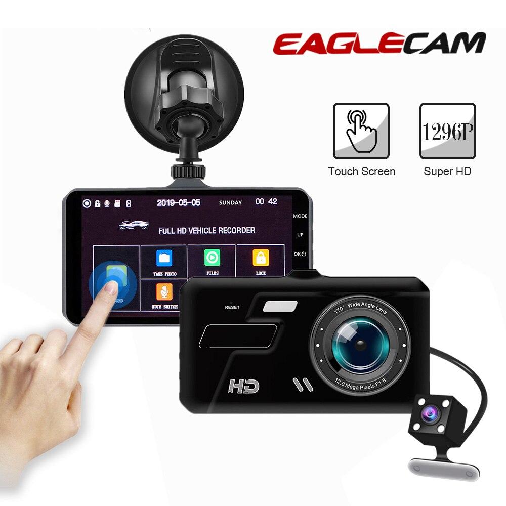 Caméra de voiture DVR Dashcam double lentille Full HD 1080 P enregistreur vidéo Vision nocturne 4 pouces Auto registrateur Dash Cam avec caméra arrière