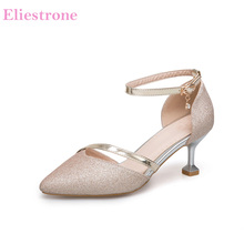 b3c0fcfd5f3c12 Brand New Summer Sexy Gold Silver Women Bridal Sandals Sparkly Heels Lady  Party Shoes PS31 Plus