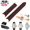 20*12 (Buckle18mm) Alligator Grain Genuine Leather Watchband Watch Strap Wristband Stainless Steel for Cartier PASHA DE Watch