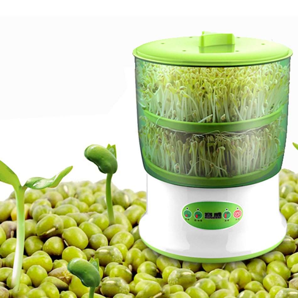 2017 Intelligence Bean Sprouts Machine Smart Nursery Pots Seed Seedling Pots Plastic Thermostat Automatic Bean Sprouting Machine bean sprout machine germination intelligence home double layer nursery pots automatic bean sprouts machine kitchen electrical