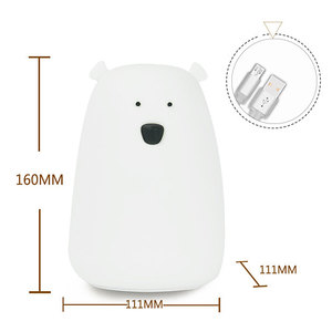 Image 4 - Colorful Bear Silicone LED Night Light Chargeable Battery Touch Sensor light 2 Modes Children Baby Kids Night Lamp Bedroom Light