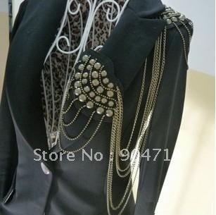 Rivets long tassel chain Medal brooch badge/uniforms badges/bullion badges/patches/pin badges/garment accessories