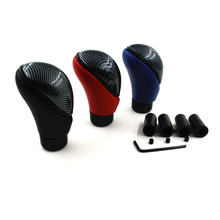 Universal Black Leather Shift Knob Head