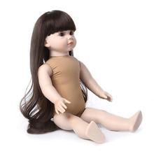 new vinyl silicone reborn baby dolls soft body 45cm standing doll 18inch Educational toys for children bonecas handmade Lifelike