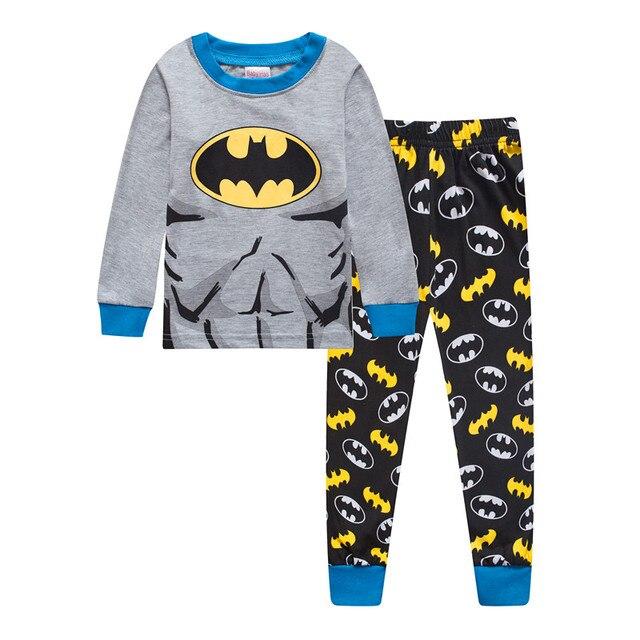 Новые Детские Пижама с Бэтменом Детский комплект для маленьких девочек  Обувь для мальчиков мультфильм Повседневное детские 385ef4d1e809d