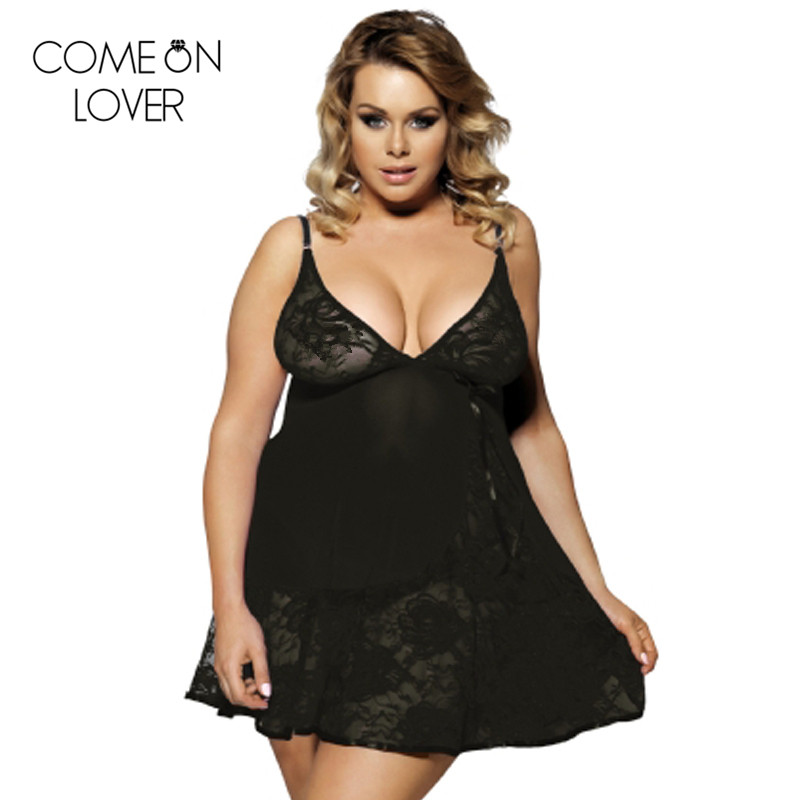 Lingerie mini sexy dress plus size   nightgowns     sleepshirts   lace design sexy sleepwear sexy woman underwear sleep dress RL80158
