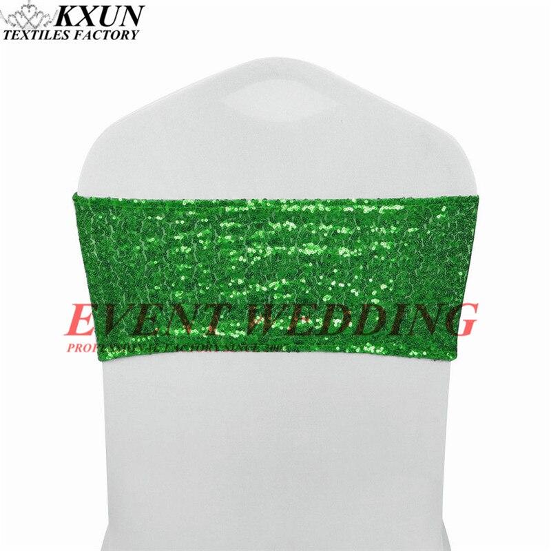 100 piezas mucho de silla banda corbata de lazo de Lycra Spandex silla cubierta boda decoración de eventos-in Bandas from Hogar y Mascotas    3