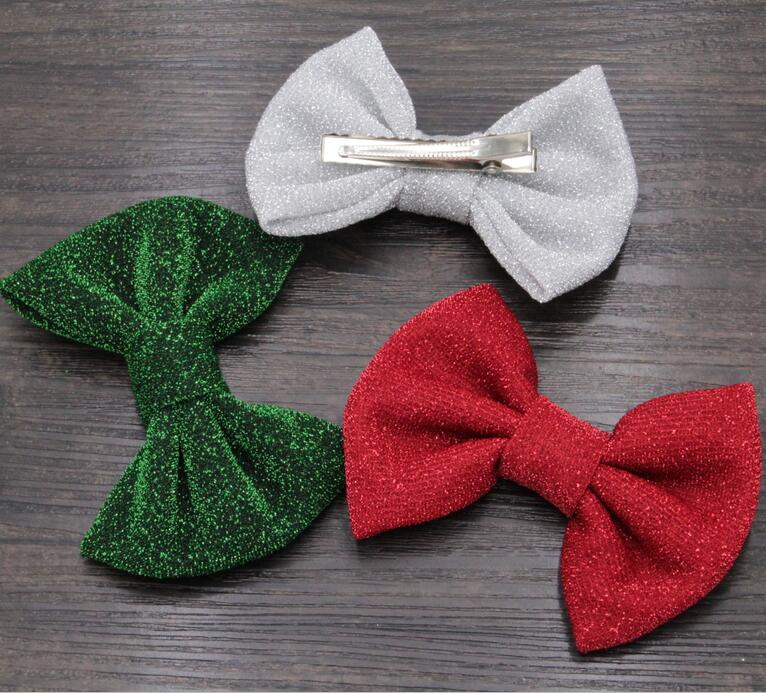 10pcslot Christmas Hair Bows With Clip Hair Accessories