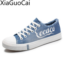 Spring New Fashion Men's Denim Canvas Shoes Junior Board Breathable Unisex Casua