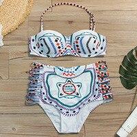 Floral Print High Waist Swimsuit 2019 Bikini Push Up Swimwear Women Retro Vintage Biquini Bathing Suit Maillot de Bain Femme