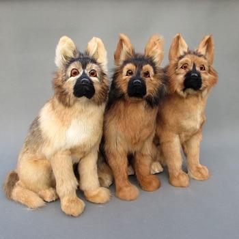 Simulation dog polyethylene&furs dog model funny gift about 28cmx17cmx38cm