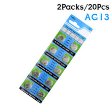 YCDC 20pcs 303 357 1130SO 1166A A76 AG13 D303 D357 D76A G13 G13A GP76 GPA76 GS14 L1154 LR1154 LR44 button alkaline battery(China)