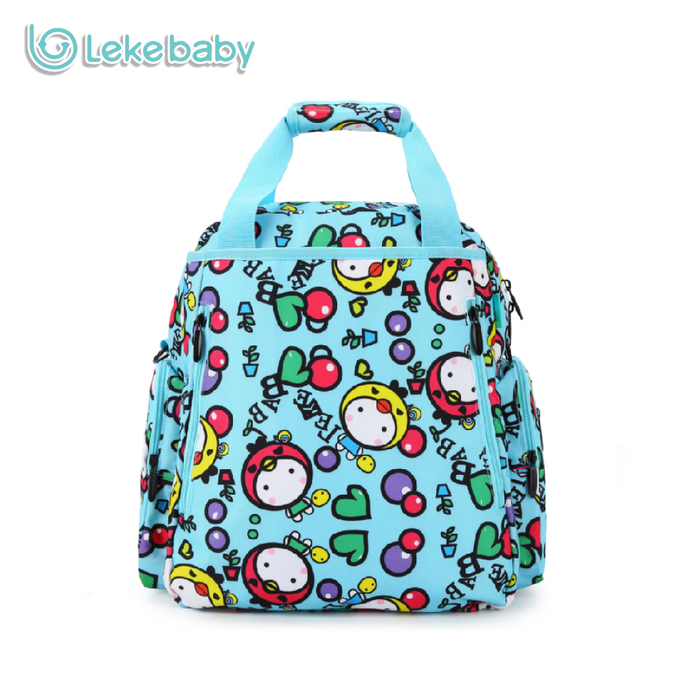 Lekebaby Diaper Bag Multi-functional Mommy Maternity Backpack Cute Cartoon Pattern Nappy Tote Bag For Travelling Stroller Bag ...