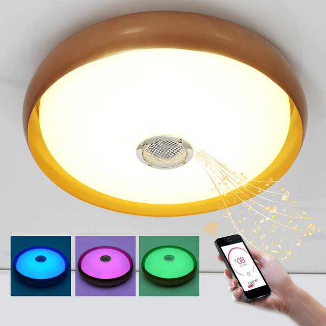 Intelligence Color Changing Led Ceiling Light Fixture Lamp Remote Control For Bedroom
