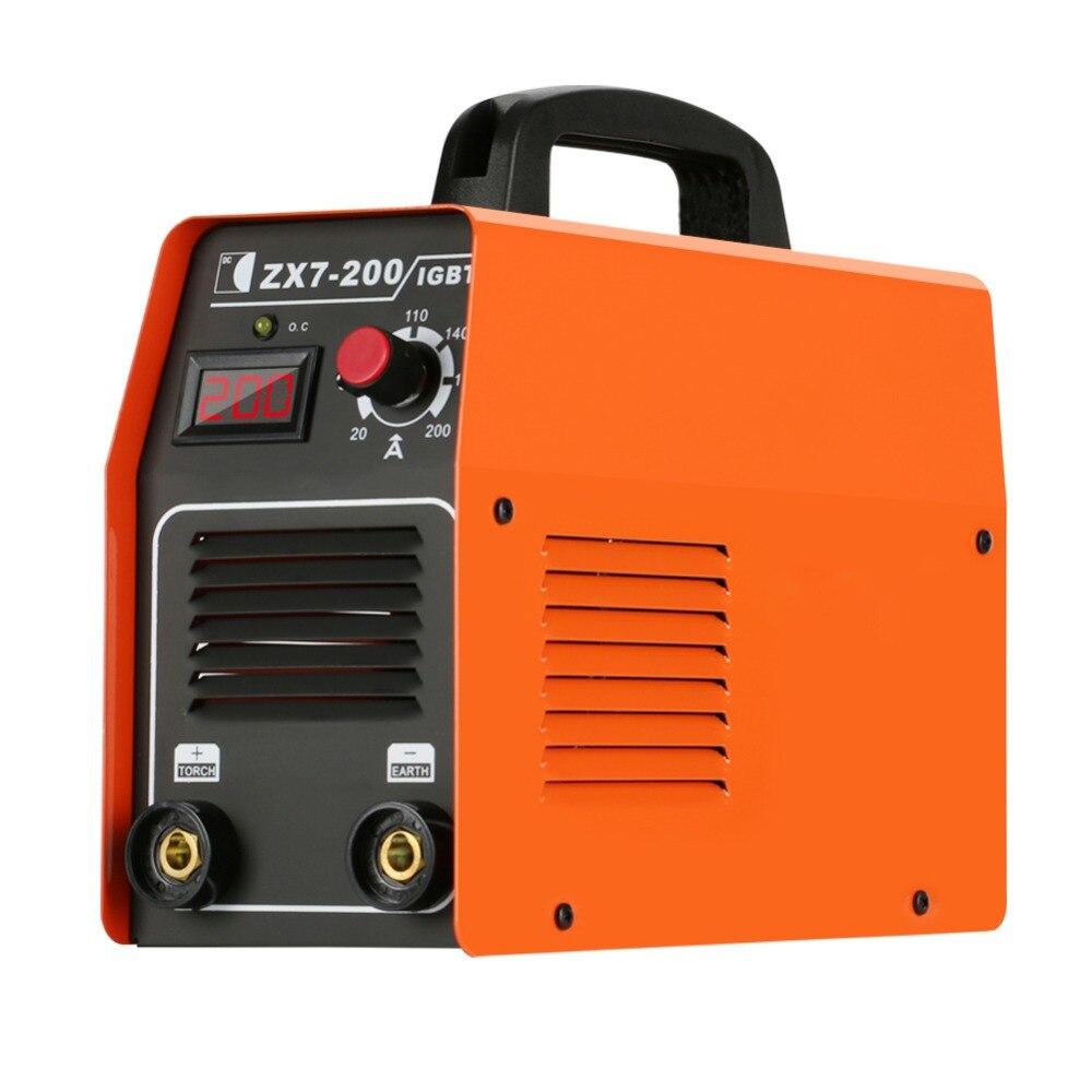 Mini prise de courant DC onduleur électrique soudage à l'arc Machine IGBT cuivre noyau soudeur Portable numérique soudeur système outil Mig soudage