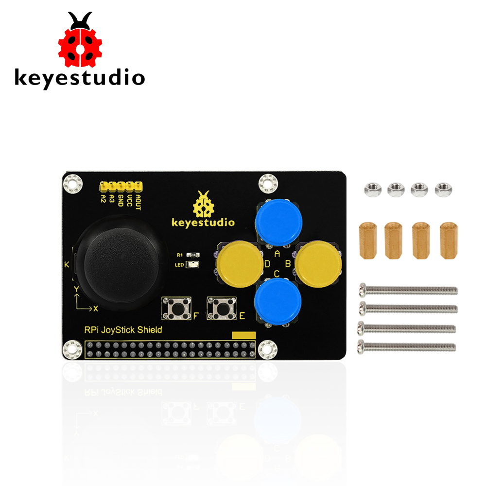 Keyestudio RPI JoyStick Keypad  Shield For Raspberry Pi4B DIY Game Rocker /CE Certification