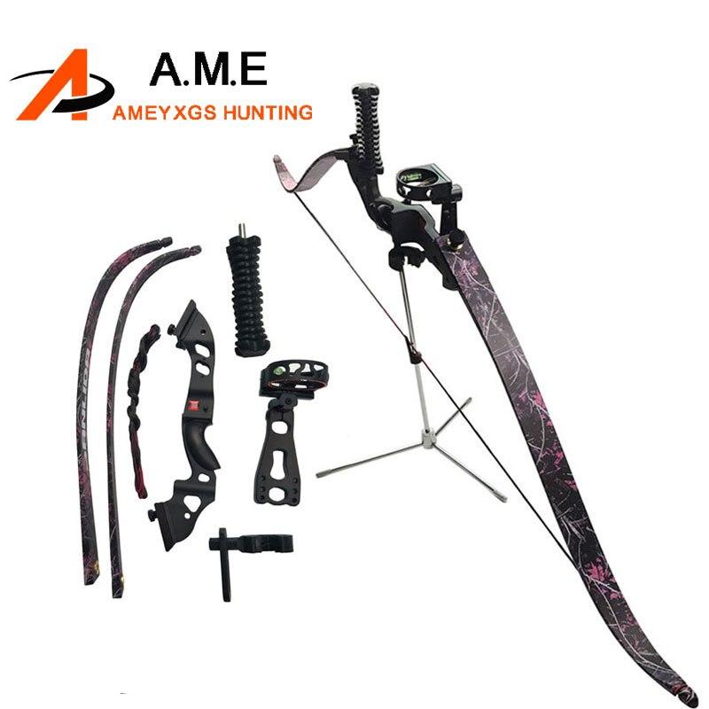 купить Recurve Bow Draw Weight 35/40/45lbs Bow Arrow Camping 5pins Sight Arrow Rest arco e flecha Arossbow 60 inch по цене 8198.46 рублей