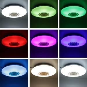 Image 5 - 48Wโคมไฟเพดานหรี่แสงได้ลำโพงบลูทูธเพลงลงAPPการควบคุมระยะไกลและเสียงหลายสีAC110 260Vในร่มห้องนอน