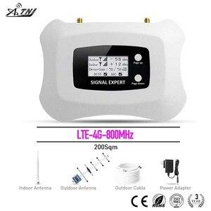Image 1 - ¡Inteligente! Amplificador de señal móvil LTE 4G, 800mhz, repetidor, pantalla LCD, Sistema de velocidad más inteligente, Yagi, antena de bolígrafo
