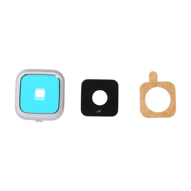 Bộ 1 Kính Camera Sau Kính + Khung + Miếng Dán Kính Cường Lực Cho Samsung Galaxy Note 4