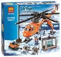 2016 Nuevo bloque de Construcción Bela 10439 273 unids Ciudad Ártico Helicrane Helicóptero juguetes juguete compatible con el regalo del cabrito de Chindren