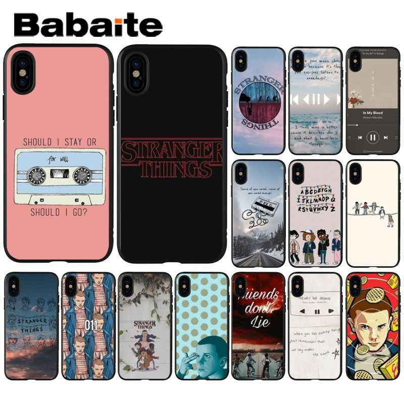 Babaite Stranger Things Black TPU Soft Silicone Phone Case Cover for iPhone 8 7 6 6S Plus 5 5S SE XR X XS MAX Coque Shell